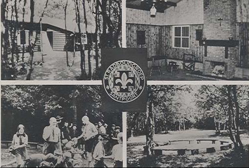 Ansichtkaart van de blokhut Scouting Radboud Santpoort
